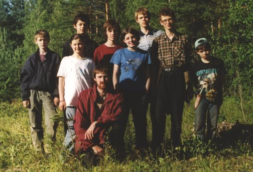 Expedition participants in the field camp. (C) A. Kouprianov, 2001