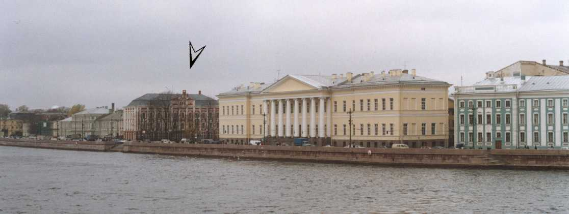 University Embankment. The arrow points at the main University building. CLICK HERE...